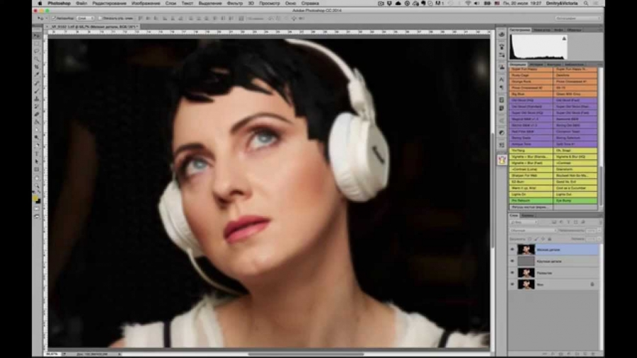 О методе частотного разложения при ретуши портретов.